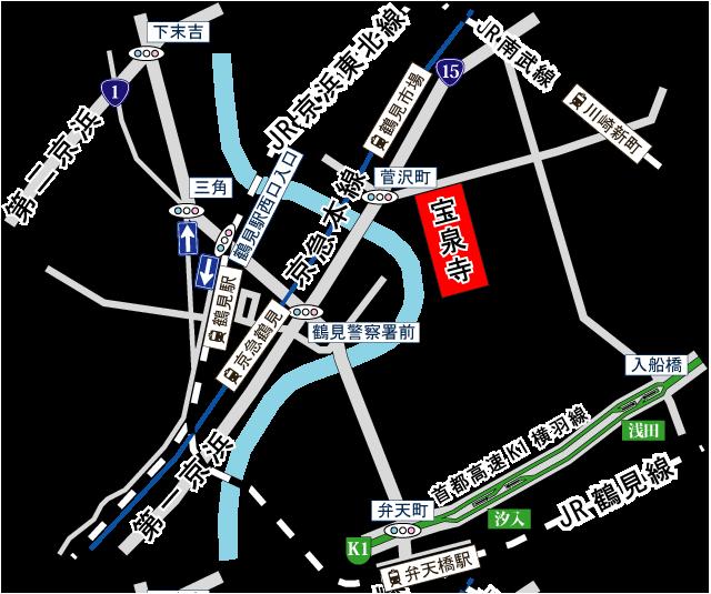宝泉寺アクセス地図